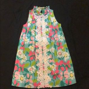 Lilly Pulitzer floral sleeveless dress.